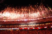 March 30, 2014: WWE holds Wrestlemania 31 at Levi's Stadium in Santa Clara, CA. (Photo © 49ers 2014) (49ers Photos)